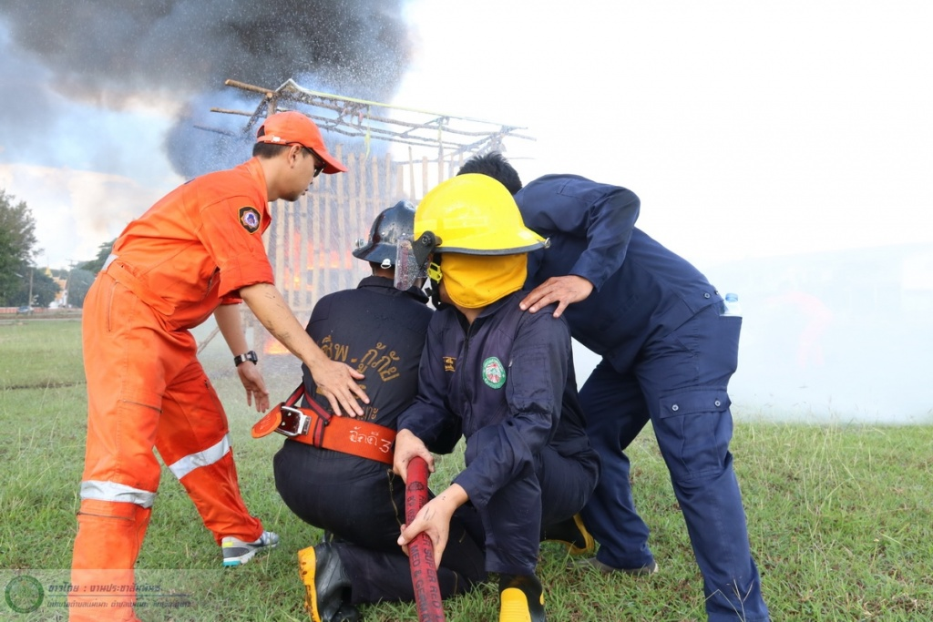 โครงการฝึกซ้อมแผนระงับเหตุอัคคีภัย ประจำปี 2560